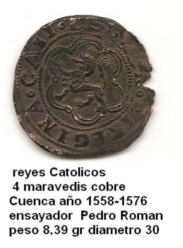 4 Maravedís a nombre de los Reyes Católicos. Image