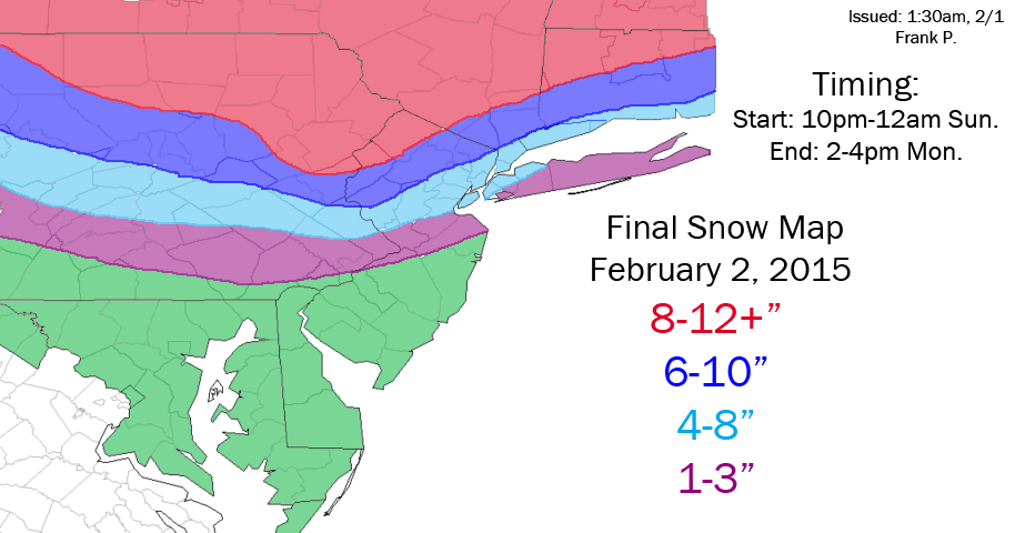 SNOW MAPS: FEB 1ST/2ND Final_snow_map_february_2nd_2015