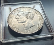 5 pesetas 1877 (*18-77). Alfonso XII. DEM 20170601_122809