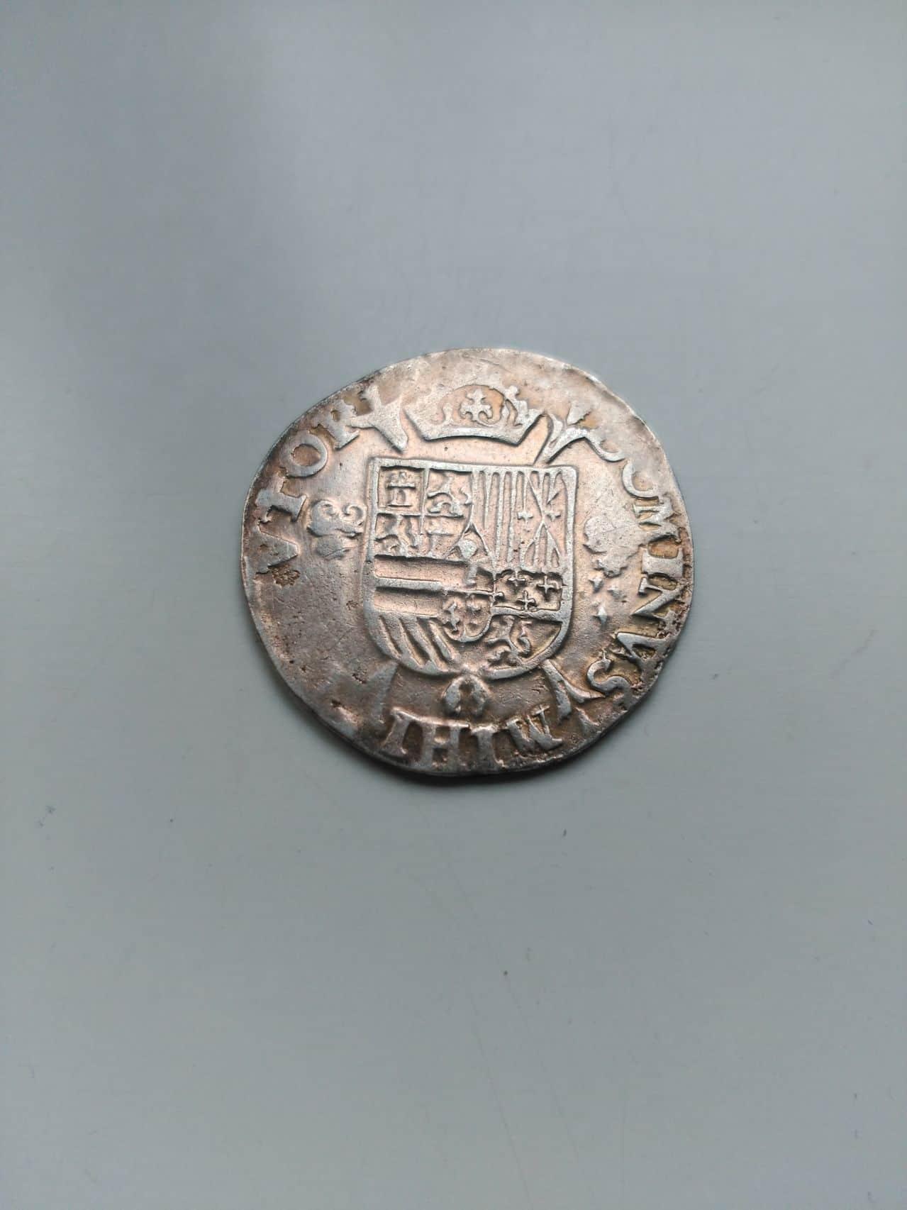 1/5 de escudo de Felipe II de Amberes año 1566 Image
