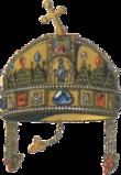 5Coronas 1908 Francisco José I Hungria Corona_de_San_Esteban