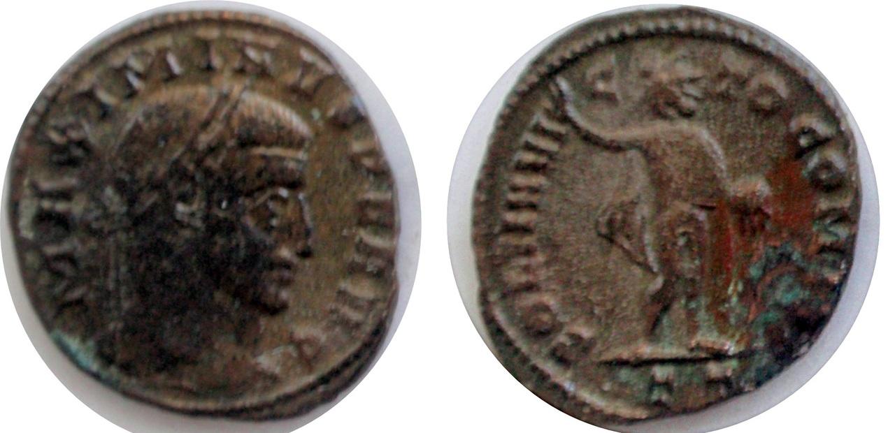 Nummus de Maximino II Daza. SOLI INVICTO COMITI Max_ii_tic_3