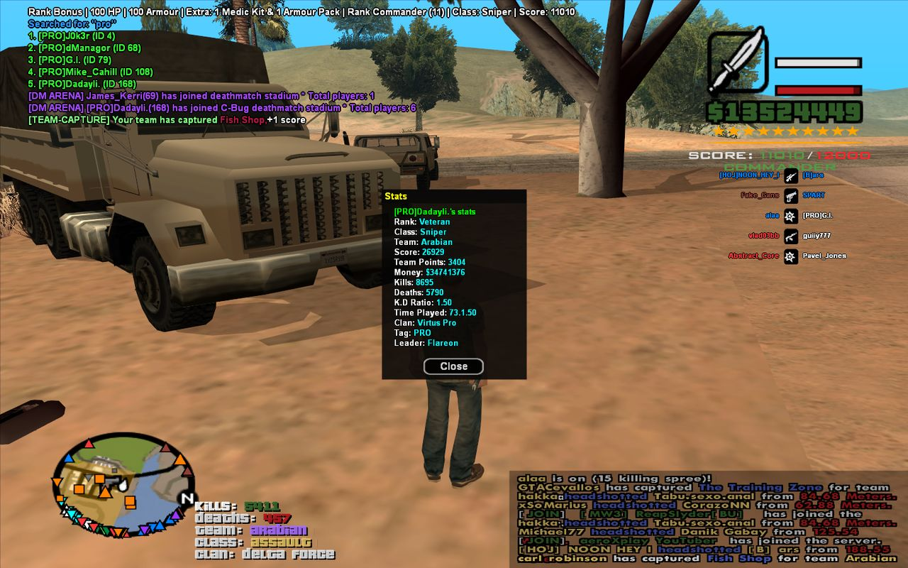 This guy really want to enter to the clan. Sa_mp_290