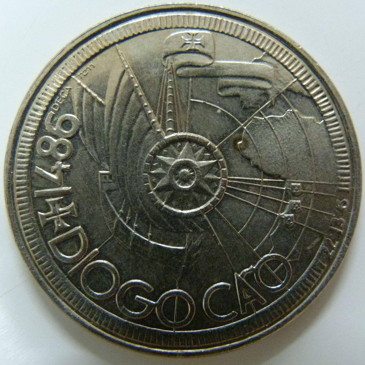 100 Escudos. Portugal (1987) - Diogo Cao POR_100_Escudos_Diogo_Cao_rev