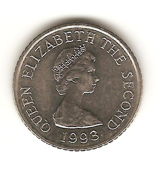 5 penique de Jersey año 1993 Image