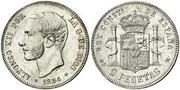 2 pesetas 1884 (*18-84). Alfonso XII 2002329.m