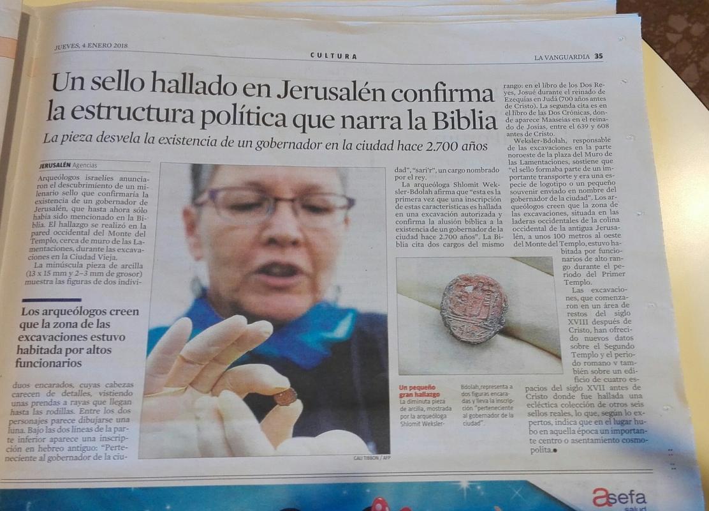 Un sello hallado en Jerusalén confirma la estructura política que narra la biblia IMG_20180104_133210