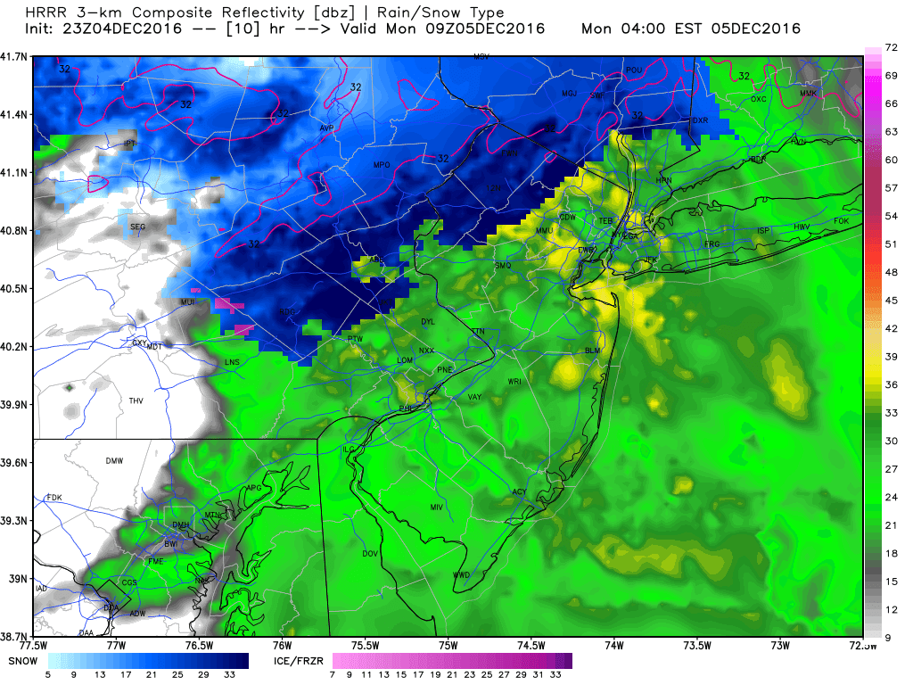 Monday 12/5 Snow Showers Discussion / Observations Hrrr_ref_nj_11