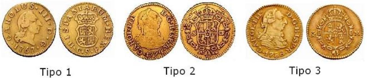 1/2 Escudo Carlos III 1765 Madrid. Tipos_medio_escudo