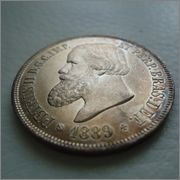 2000 Reis 1889 Pedro II Brasil  Image