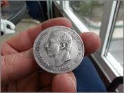 5   pesetas  1885*18-87* Alfonso XII - M.S.M  20131121_160027