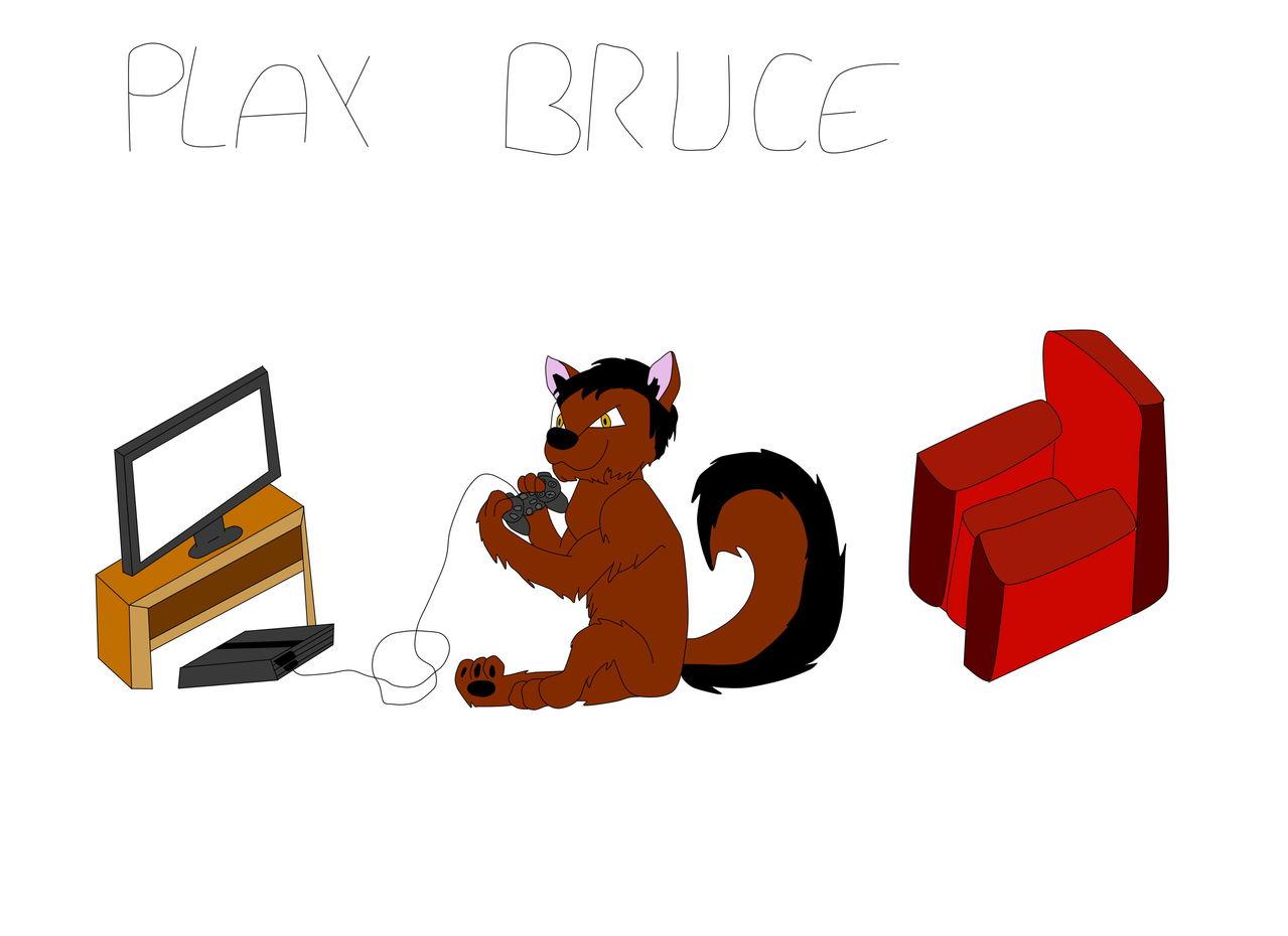 dibujos mios xD Bruce