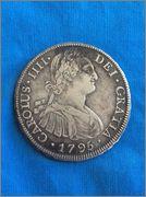 8 reales 1795. Carlos IV. Potosí Image
