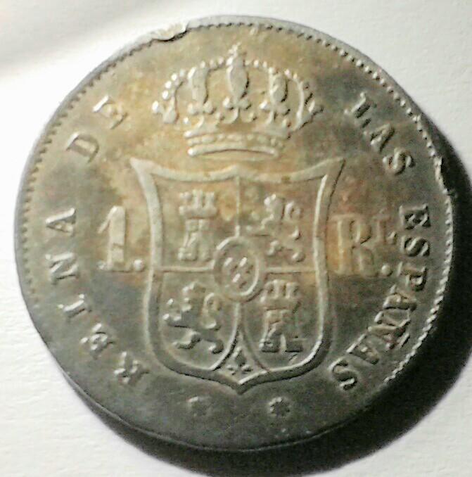 1 real 1857 Isabel II. ¿Error de acuñacion? 20160918_195250_3