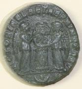 AE3 de Constantino I el Grande. VICTORIAE LAETAE PRINC PERP Reverso_1_recortado