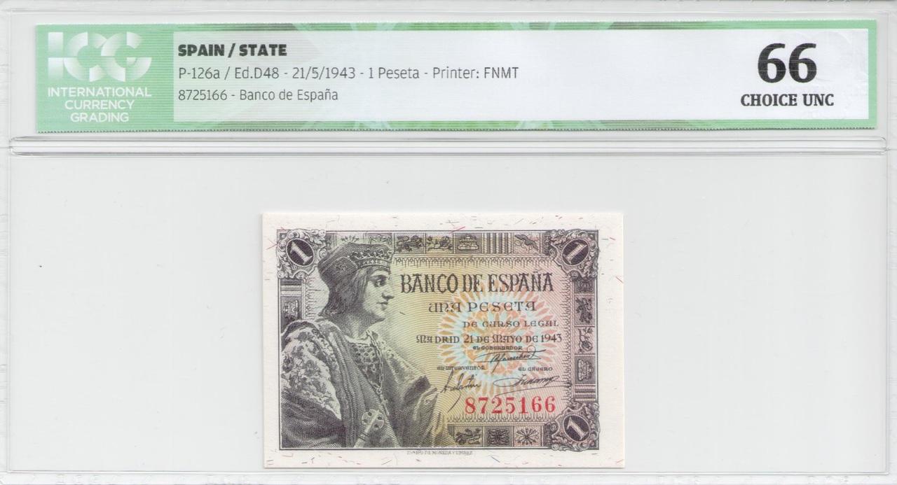 Colección de billetes españoles, sin serie o serie A de Sefcor 43_anverso