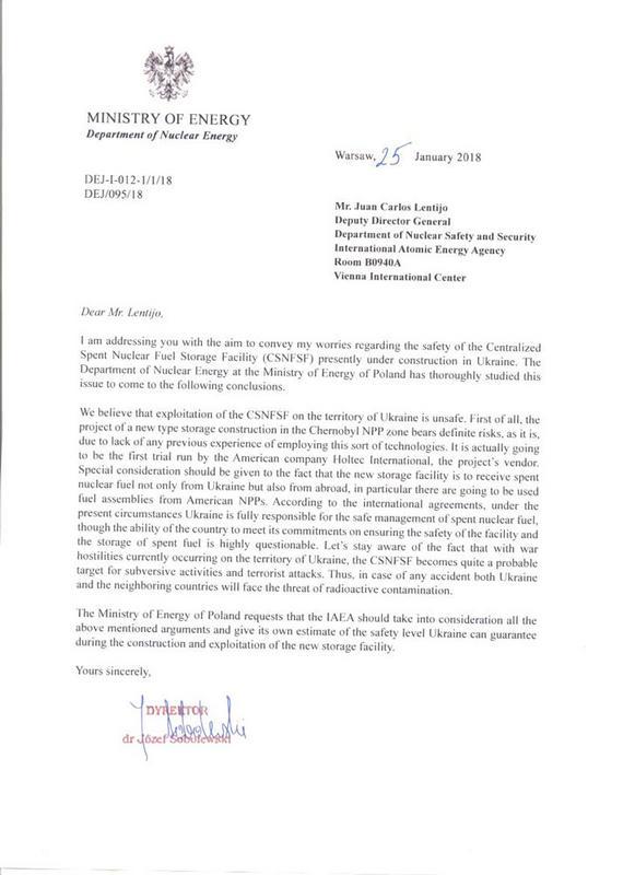 La Pologne doute de la sécurité de stockage de déchets nucléaires en Ukraine Moe