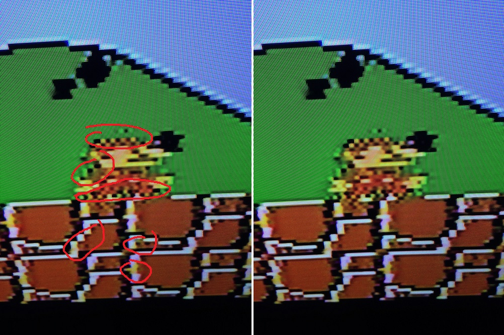 NES artifacts in video quality (pictures) Smb1_nes2