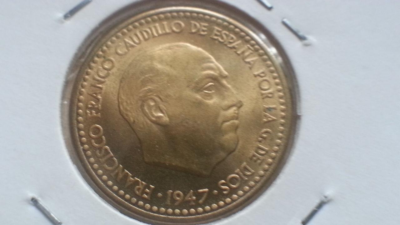 100 pesetas 1966 *69  (Palo Curvo) Estado Español - Página 3 Peseta_1947_anv_rev_flojo