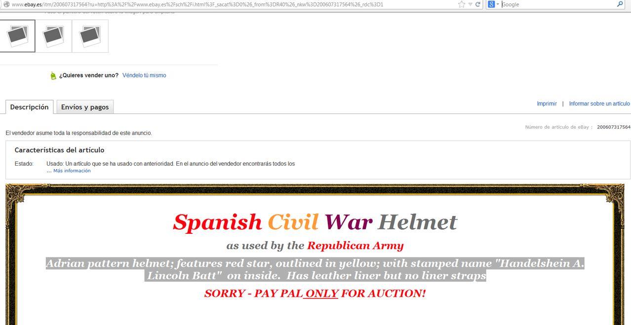 casco - casco adrian frances con estrella de Brigadas Internacionales Screenshot_177