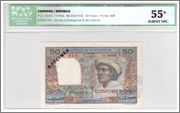 50 Francs Comoros, 1960 (P2s) Comoros_P2s_50_francs_1960_63