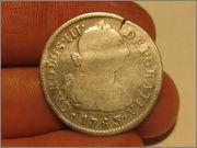 2 reales Carolus III 1783 ceca de lima 3_4