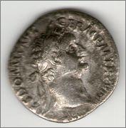 Denario de Domiciano. IMP XXI COS XV CENS P P P. Minerva. Roma. Smg_640a