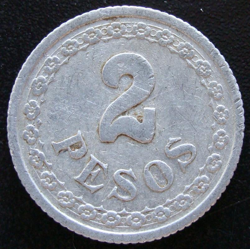 2 Pesos. Paraguay (1938) PAR._2_Pesos_1938_-_rev