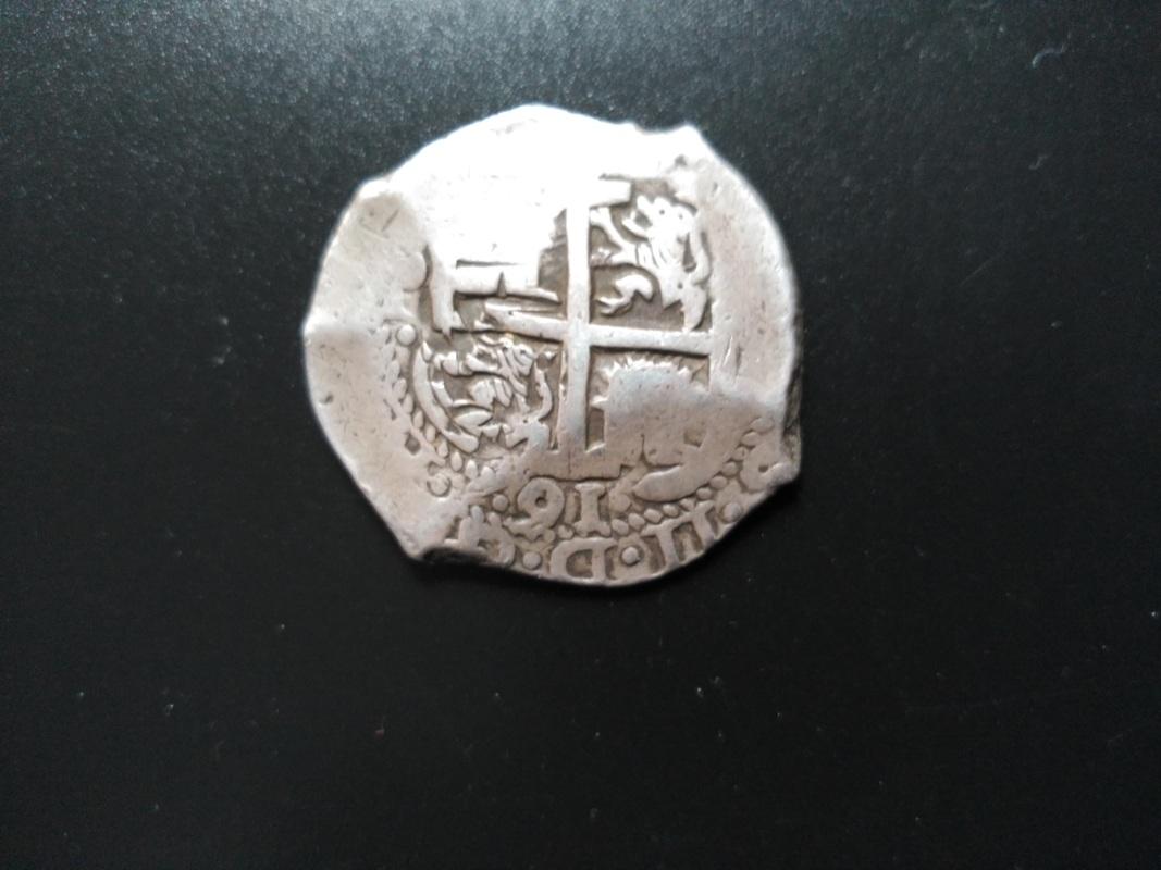 8 Reales macuquinos de Carlos II de 1691 ceca Potosi.  Image