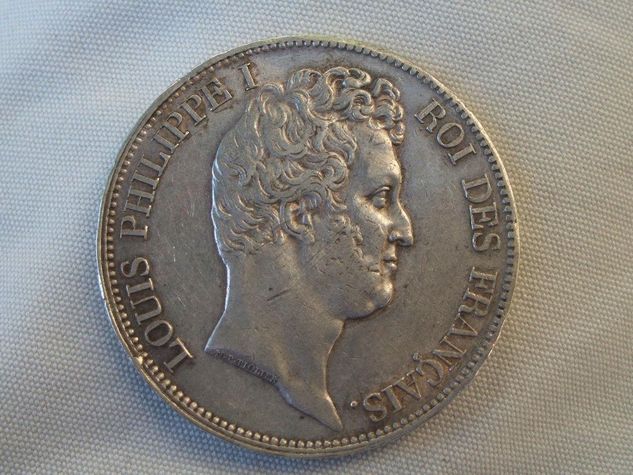 5 Francos de 1830 (Marsella). Luis Felipe I. Francia. Ssii
