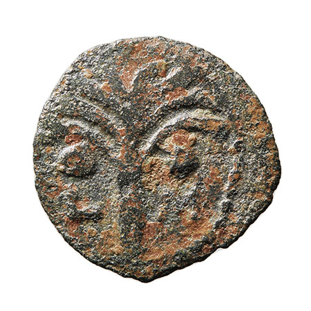 Prutah de Marcus Ambibulus. Jerusalen. L - M. Año 40. Smg_624a