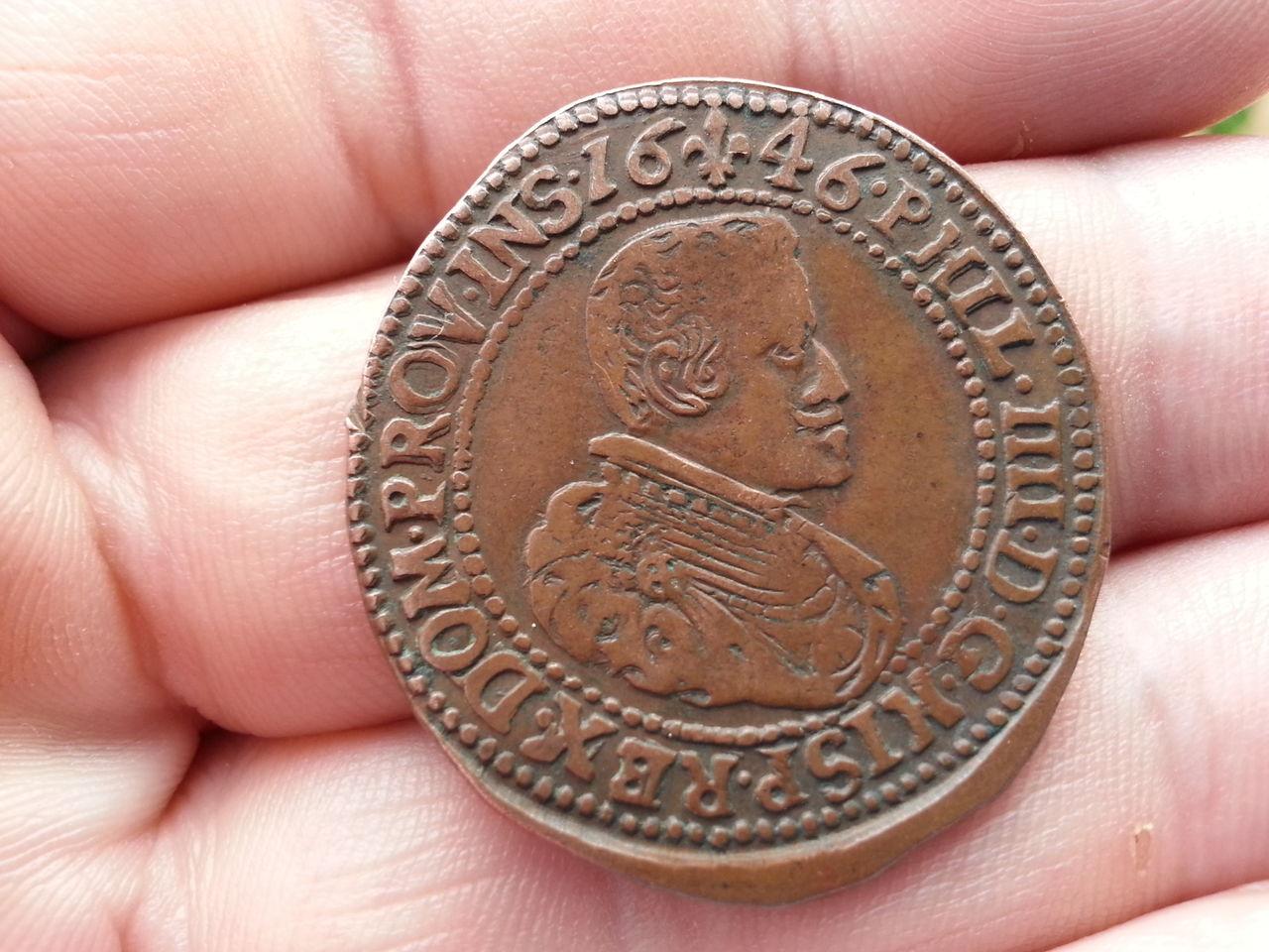 Jetón de Felipe IV. Tournai. 1646. Deseos de Paz.  20140328_173649