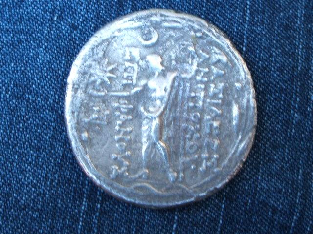 Tetradracma seléucida de Antioco VIII. Ake-Ptolemais. Image