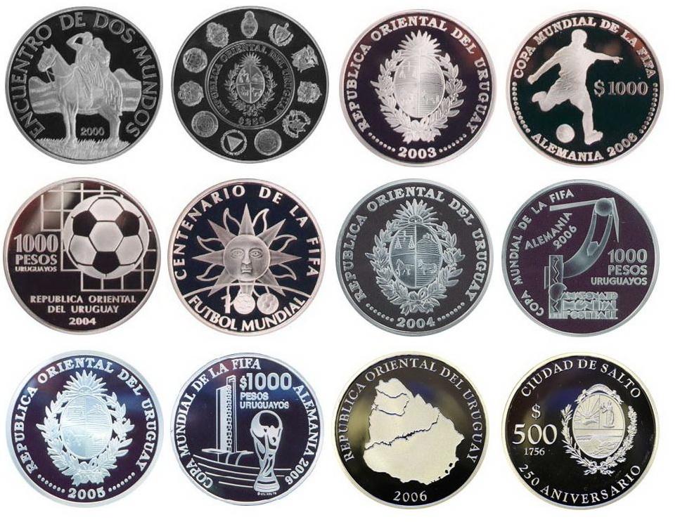 Monedas conmemorativas de Uruguay acuñadas en plata 1961 - Presente. Dibujo_4