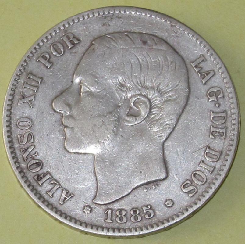 Duros de Plata de Alfonso XII 1885
