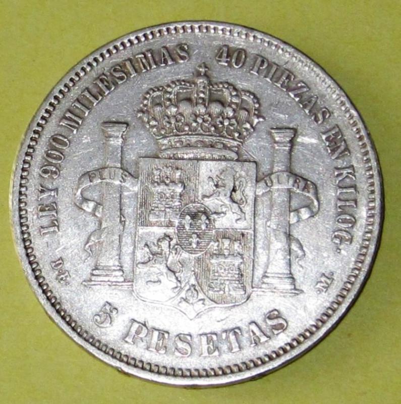 Duros de Plata de Alfonso XII 1876b