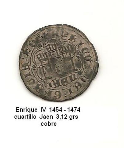 Cuartillo de Enrique IV. (1454-1474). Jaén. Cuartillo_1