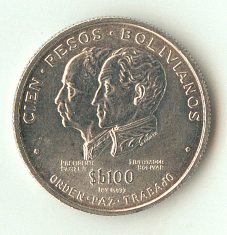 100 Pesos Bolivia. 1975. Lisboa 100_pesos_bol_1975_anverso
