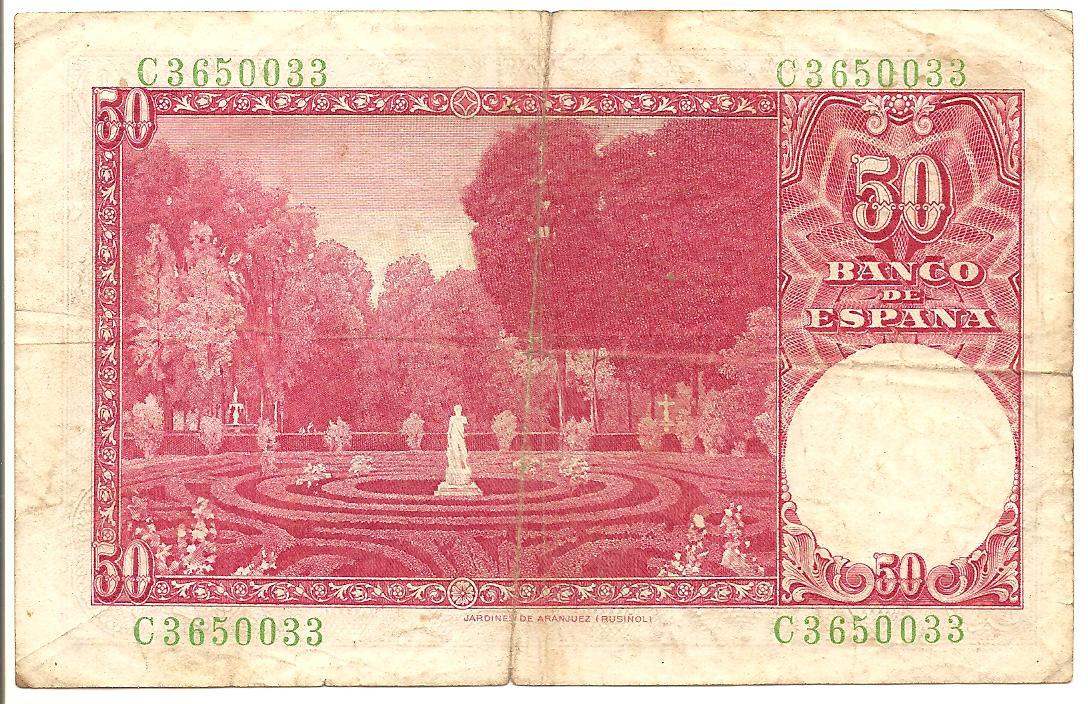 50 pesetas de 1951 Image