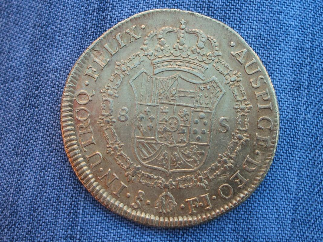 8 Escudos 1803 FJ. Carlos IV con busto de Carlos III. Santiago. 1803_3