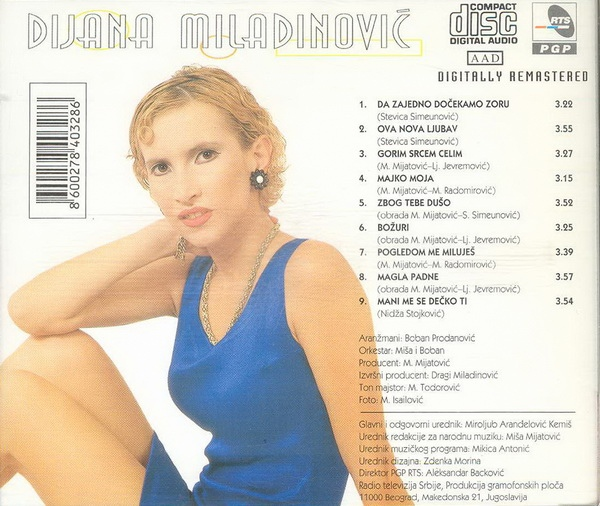 Dijana Miladinovic - 1997 - Da zajedno dočekamo zoru Dijana_Miladinovic_1997_zadnja