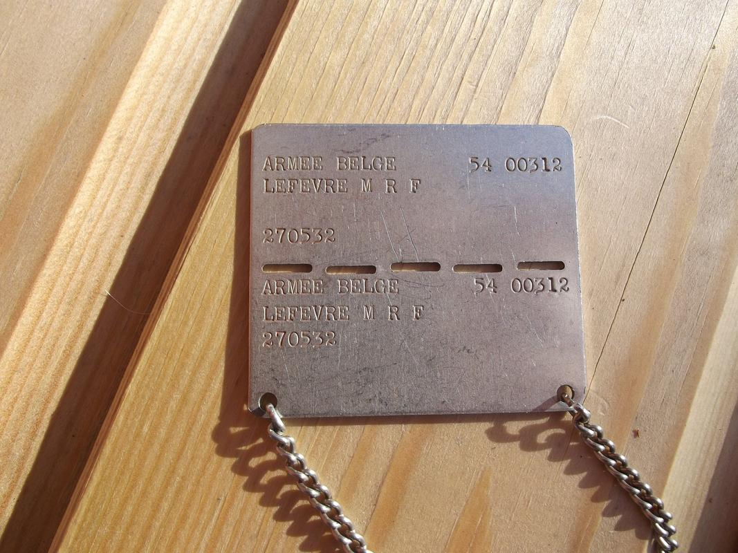 Belgian dog-tag of the year 1964 DSCF6120