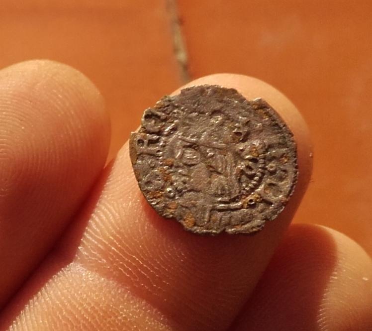 Dinero de Fernando II de Aragón 1479-1516 Aragón 20160217_170937