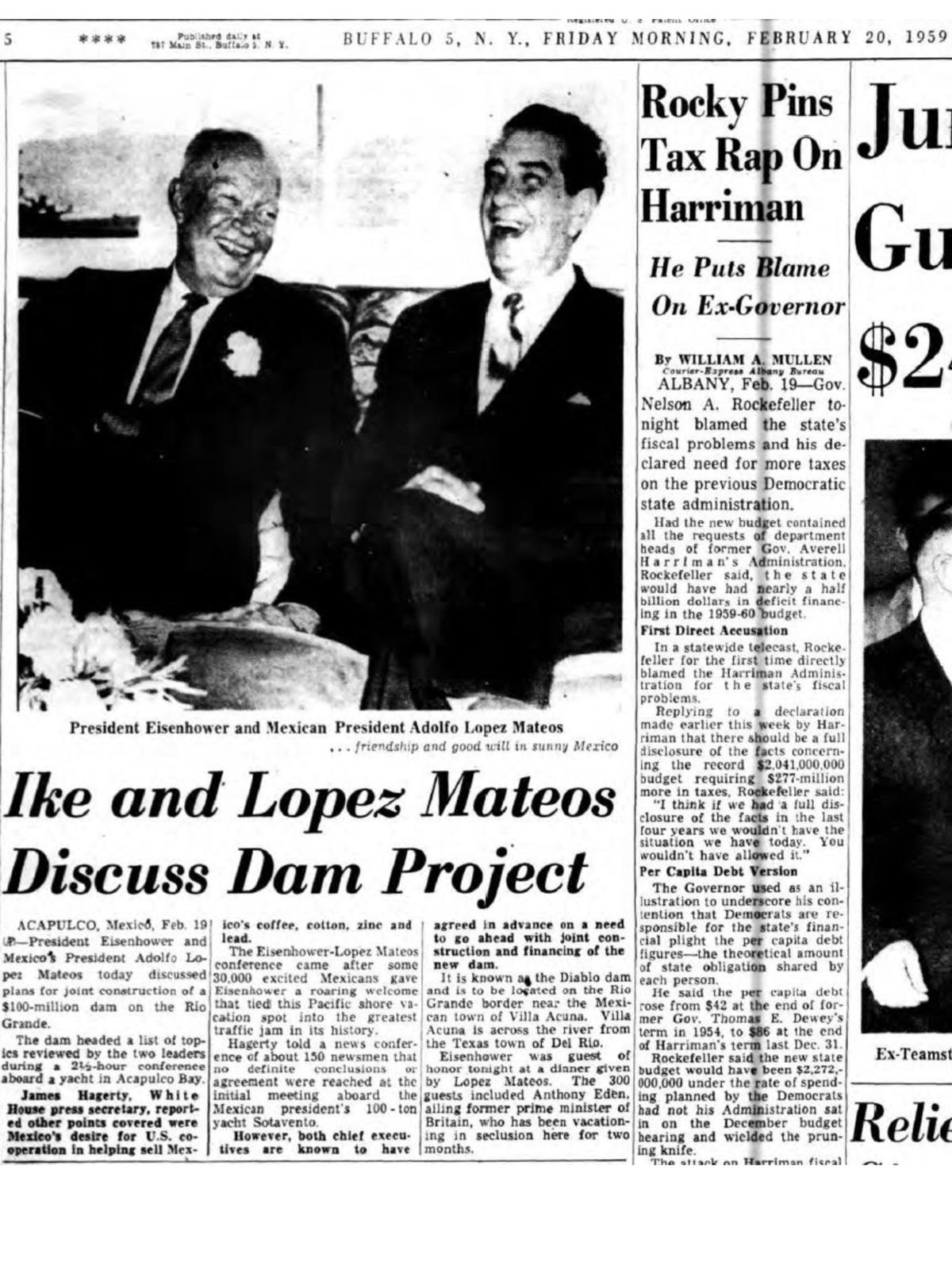YATES PRESIDENCIALES – YATE SOTAVENTO – ARMADA DE MEXICO - 1948 Page_1_REUNION20_FEB1959_IKELOPEZMATEOS