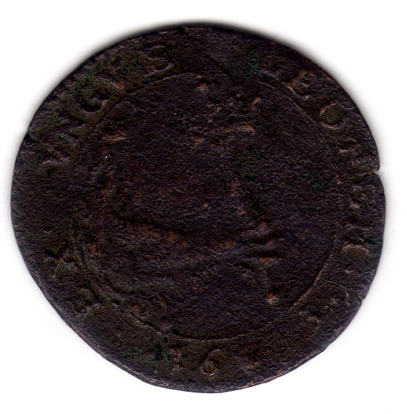 Jetón de Carlos II. 1673. Amberes. Declaración de guerra a Francia Img526