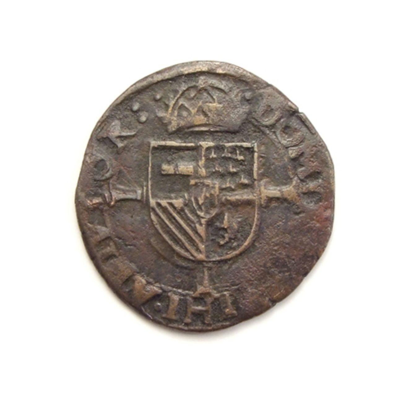 Dubbele Korte o Double Courte sf (ca. 1575). Felipe II. Vlaanderen (Flandes). Vlaanderen_brugge_dubbele_korte_z_j_5035_0