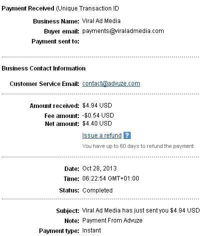 1º Pago de Advuze ( $4,94 ) Advuzepayment