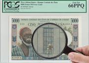 5000 Francos  Costa de Marfil, Estados del África Occidental. Isa