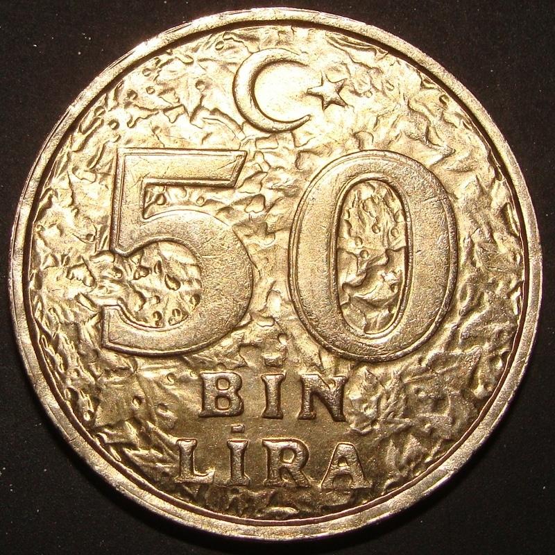 50.000 Liras. Turquía (1996) TUR_50000_Liras_1996_rev