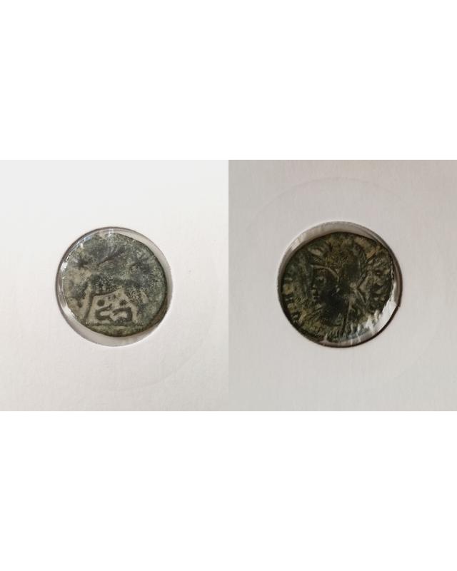 AE4 conmemorativa de Roma. VRBS ROMA. La loba capitolina con los gemelos. Trier. LOBA